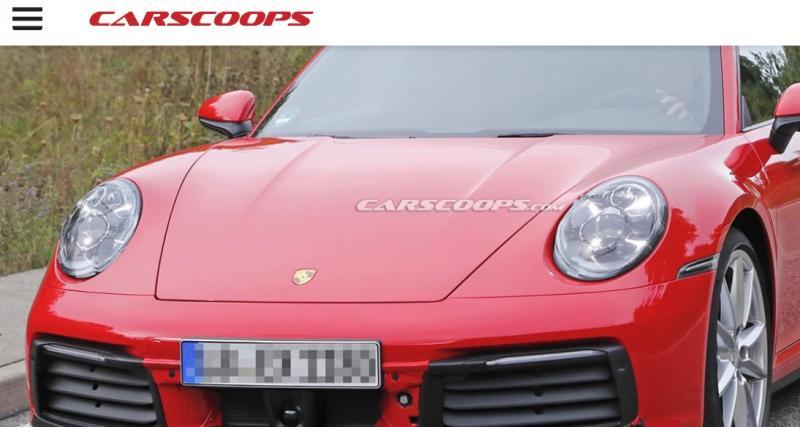 La nouvelle Porsche 911 992 surprise sans camouflage