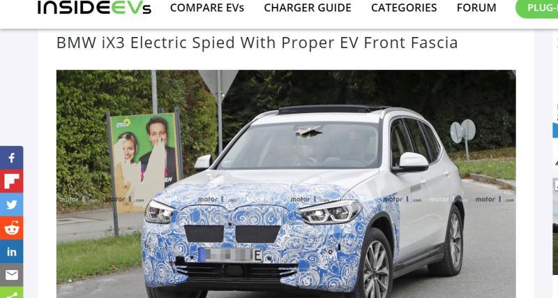 BMW iX3 : le modèle de production en test