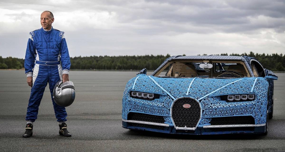 Lego Technic recrée une Bugatti Chiron roulante à l'échelle 1