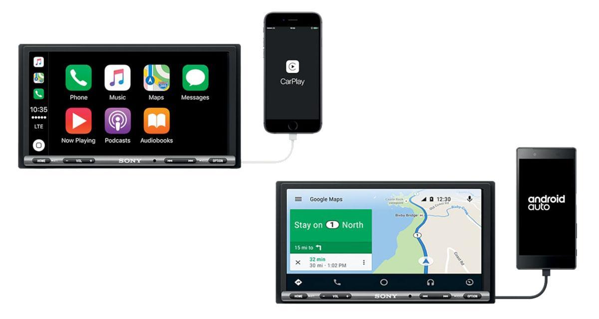 Sony commercialise un nouvel autoradio intégrant le CarPlay et Android Auto