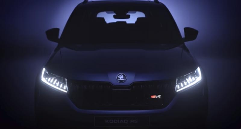Skoda Kodiaq RS : aperçu vidéo à quelques jours du Mondial
