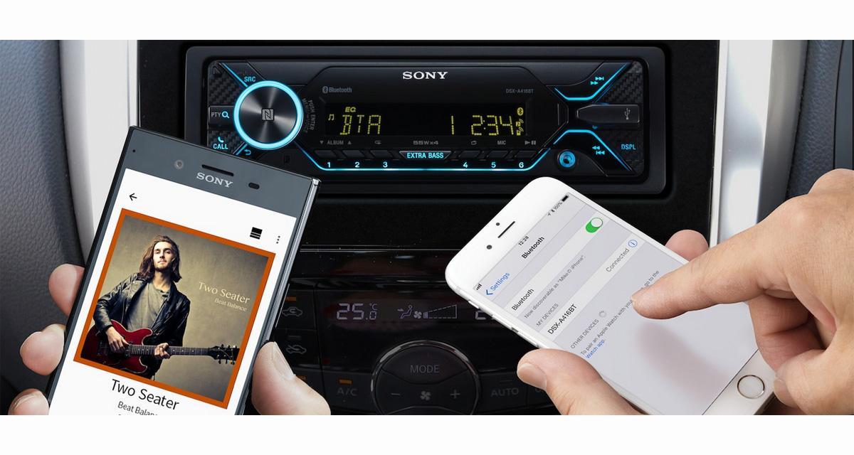 Sony commercialise un nouvel autoradio Bluetooth, pour utiliser le Smartphone comme source principale