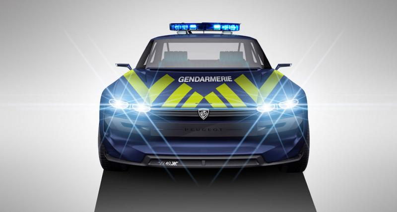 Peugeot e-Legend : le concept repensé pour la gendarmerie et le rallye