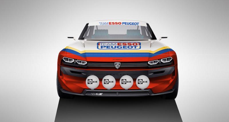 Une e-Legend façon Team Esso Peugeot