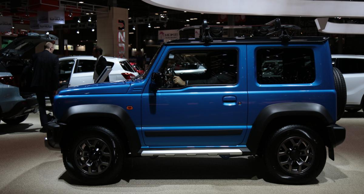 suzuki jimny nos photos au mondial de l auto 2018. Black Bedroom Furniture Sets. Home Design Ideas