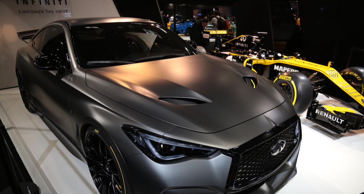 mondial de l auto 2018 infiniti project black s pr sentation et photos. Black Bedroom Furniture Sets. Home Design Ideas