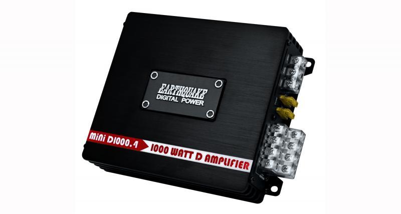 Earthquake commercialise un micro ampli 4 canaux offrant une puissance confortable
