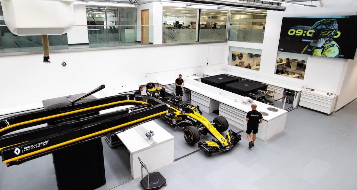 Visite de l'usine de Renault F1: les Français qui ne veulent plus perdre