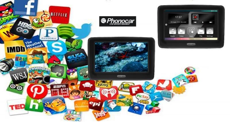 Un nouvel écran vidéo appui-tête sous Android pour divertir les enfants chez Phonocar