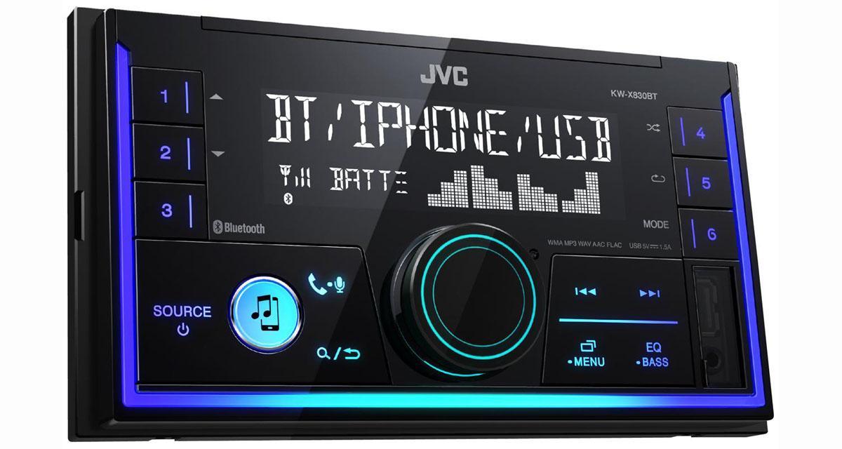 Un autoradio 2 DIN sans mécanique CD compatible Spotify à un prix bien placé chez JVC