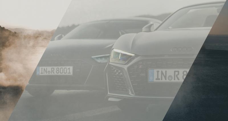 Le restylage de l'Audi R8 se montre
