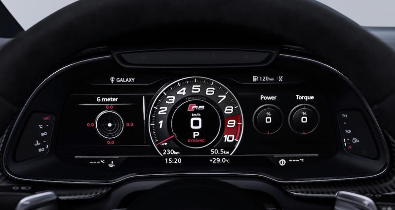 Jusqu'à 620 ch pour la nouvelle R8 V10 Plus