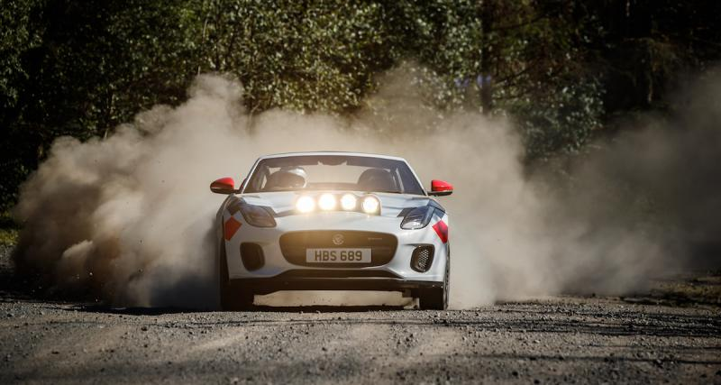 La Jaguar F-Type Roadster en mode rallye