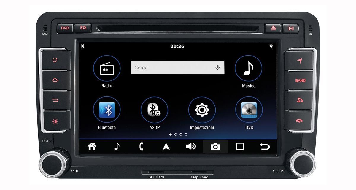Un autoradio Android 8.0 spécial VW chez Phonocar