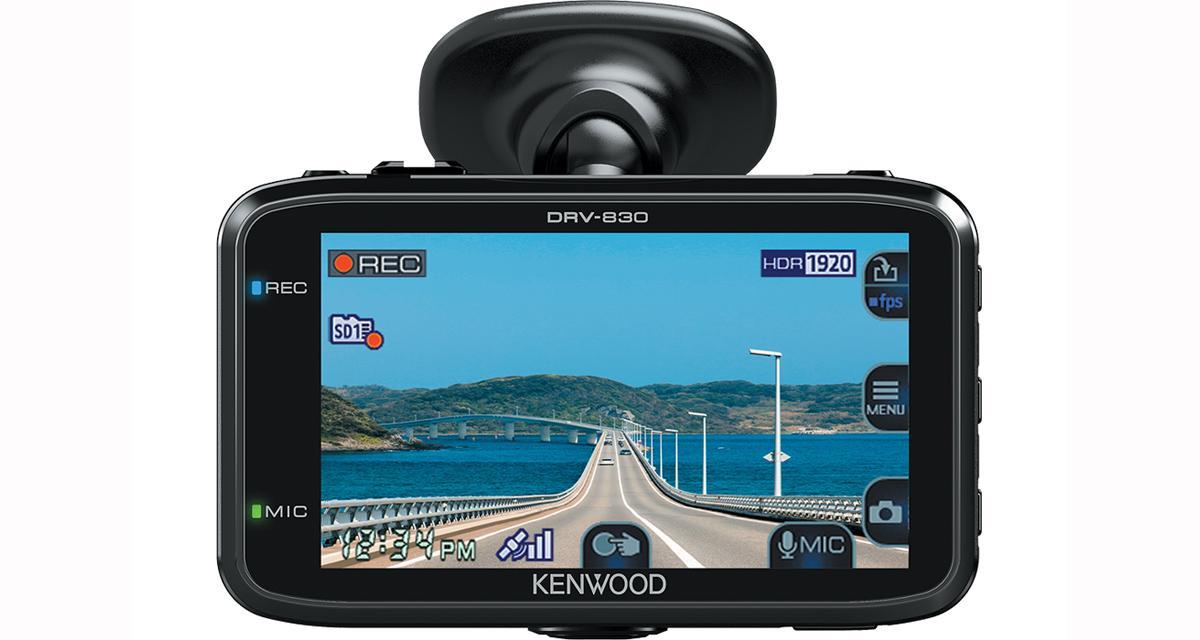 Une nouvelle caméra dash cam avec prévention des collisions chez Kenwood-Electronics