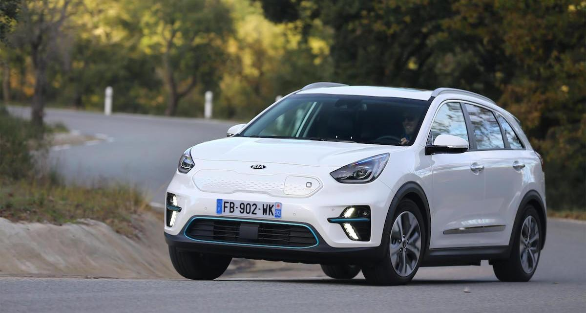 essai du kia e niro 64 kwh nos impressions au volant du suv lectrique familial. Black Bedroom Furniture Sets. Home Design Ideas