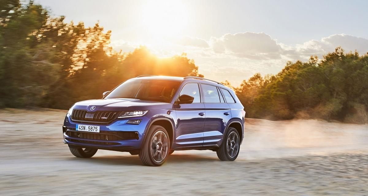 essai skoda kodiaq rs nos impressions au volant du suv diesel sportif. Black Bedroom Furniture Sets. Home Design Ideas