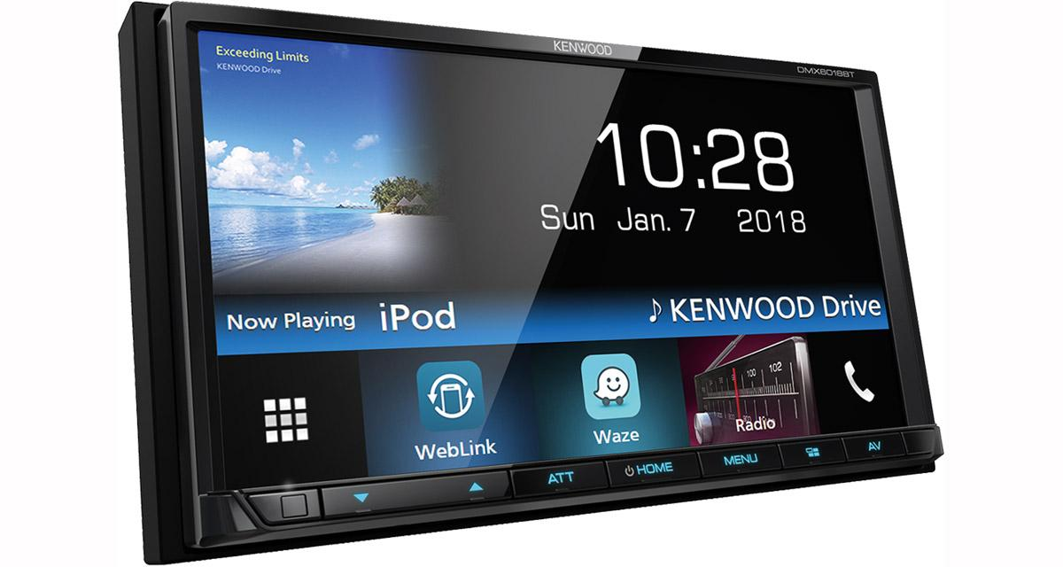 Kenwood DMX6018BT : un autoradio vidéo connecté à un prix canon