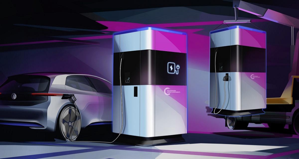 Recharge de voiture électrique : la station mobile de Volkswagen