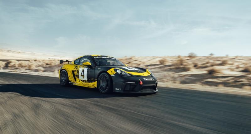 Porsche 718 Cayman GT4 Clubsport : moteur 3.8 six-cylindres de 425 chevaux