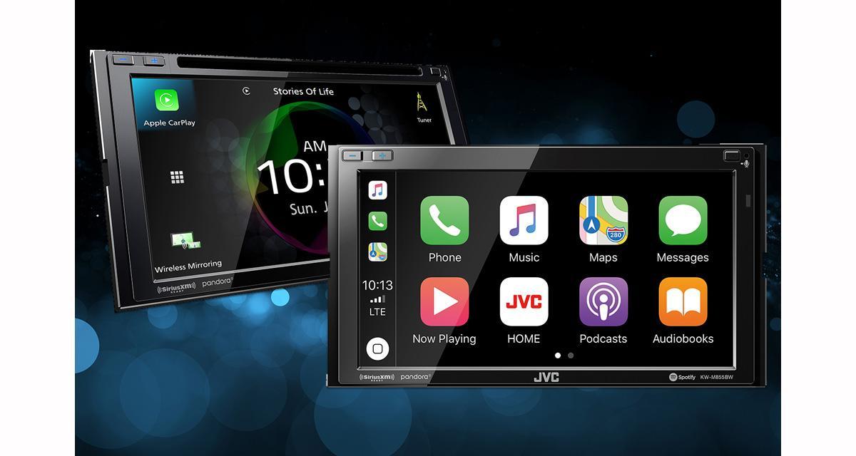 Au CES 2019, JVC présentait deux autoradios vidéo avec CarPlay et Android Auto Wireless