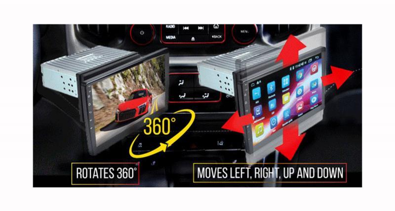 Au CES 2019, Concept USA présentait un autoradio vidéo avec un grand écran de 10 pouces