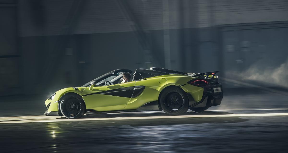 McLaren 600LT Spider : toutes les photos du nouveau cabriolet de piste