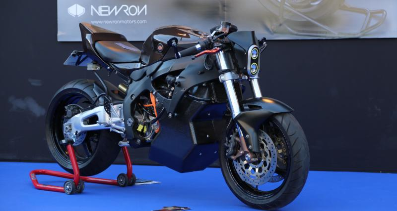 Newron Moto : nos photos de la moto électrique au Festival Automobile International
