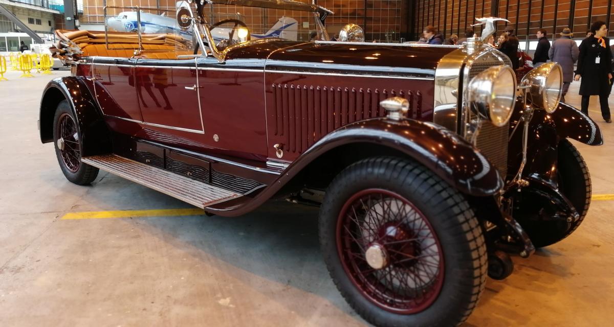 Rétromobile 2019 : nos photos de l'Hispano-Suiza H6B Cabriolet Sport de 1926