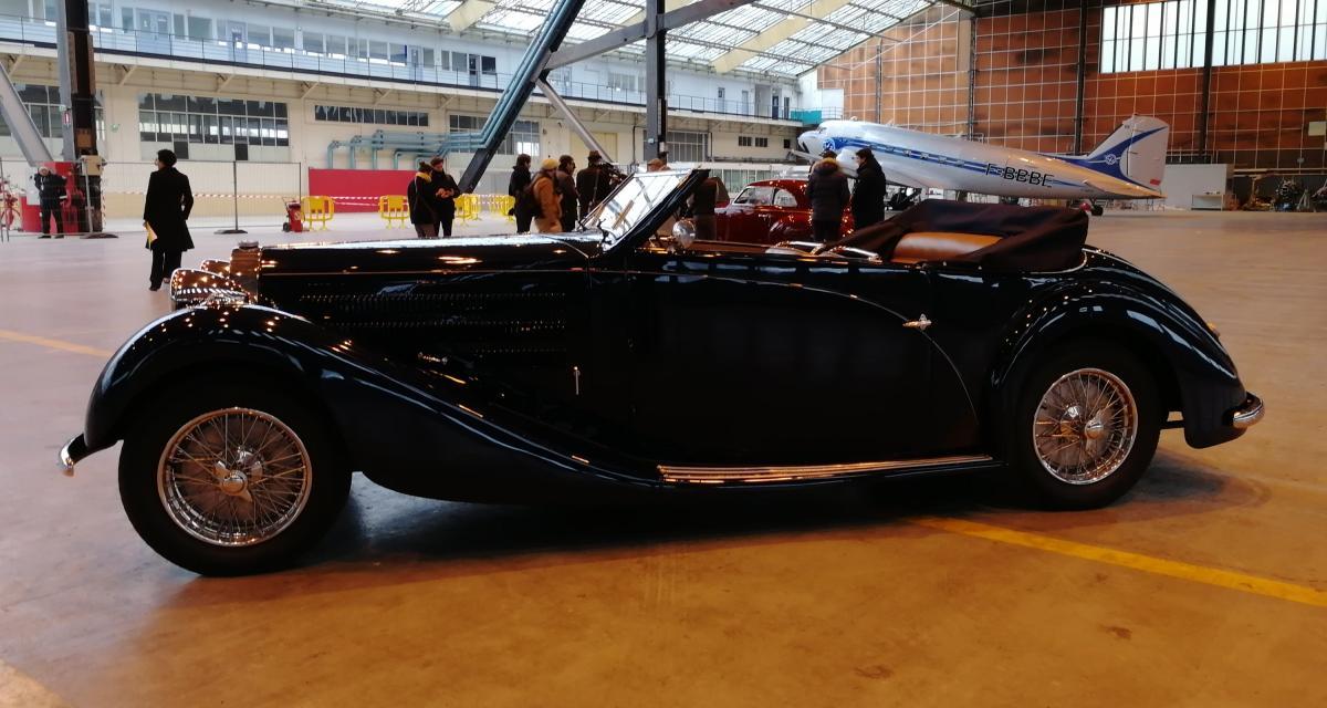 r tromobile 2019 nos photos de la bugatti 57c cabriolet de 1938. Black Bedroom Furniture Sets. Home Design Ideas