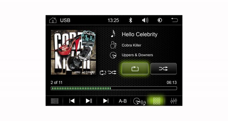 Fonctionnant sous Android 7.1, cet autoradio peut être connecté au Net