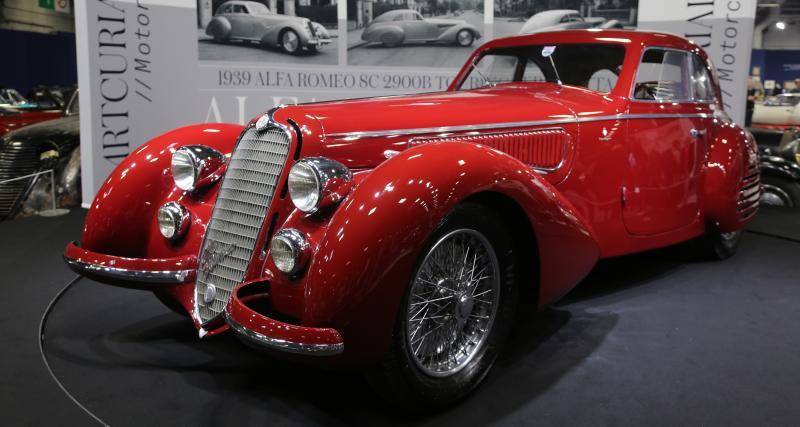 Rétromobile2019 : nos photos de la star de la vente Artcurial, l'Alfa Romeo 8C 2900B