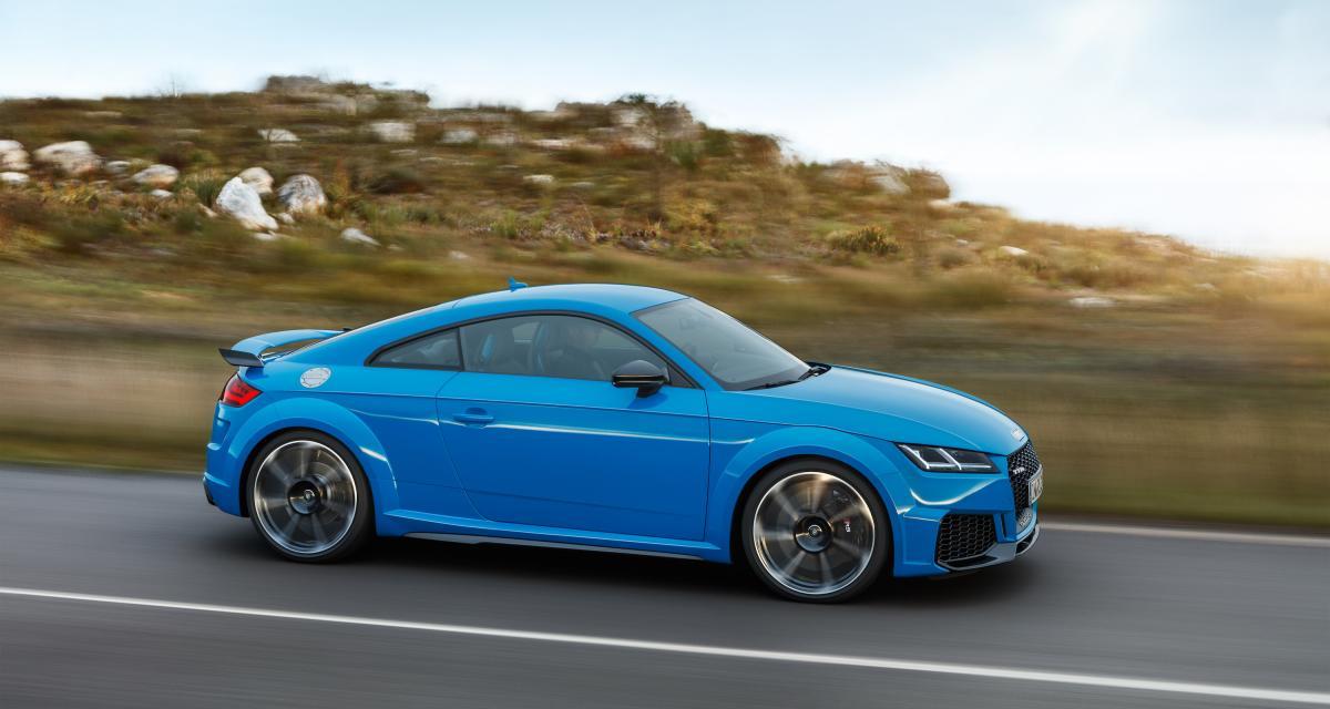 Audi TT RS restylée : les 400 chevaux toujours au rendez-vous !
