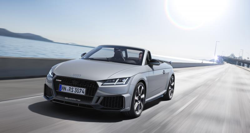 Audi TT RS restylée : toutes les photos du Roadster