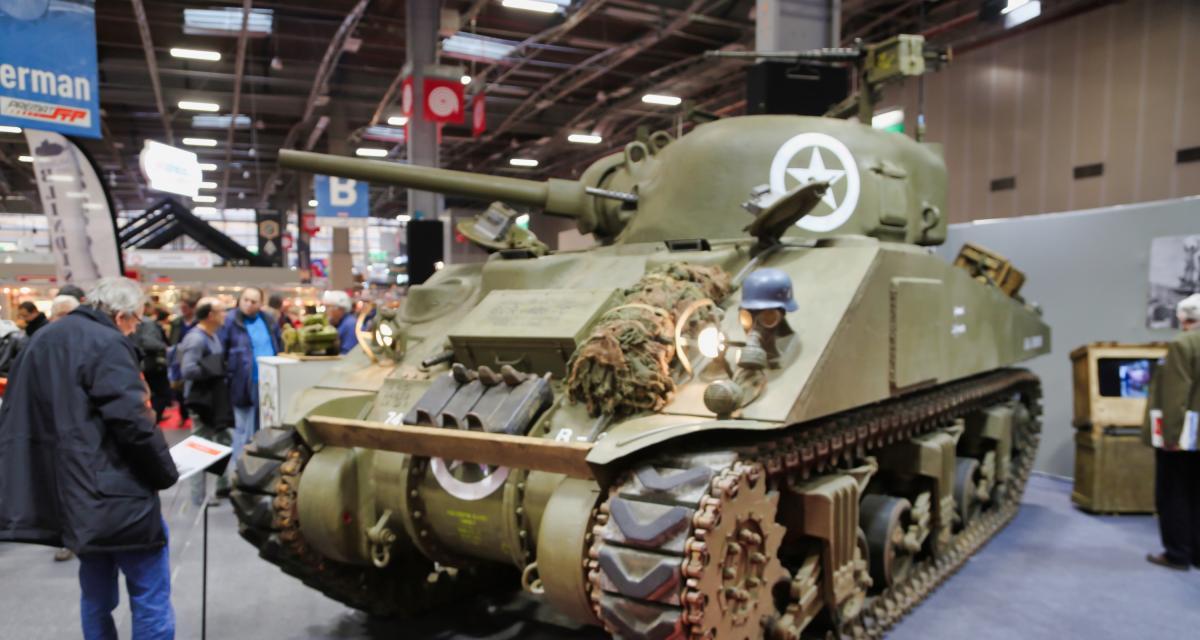 Musée des Blindés au Rétromobile 2019 : nos photos du Panzer IV et du Sherman M114