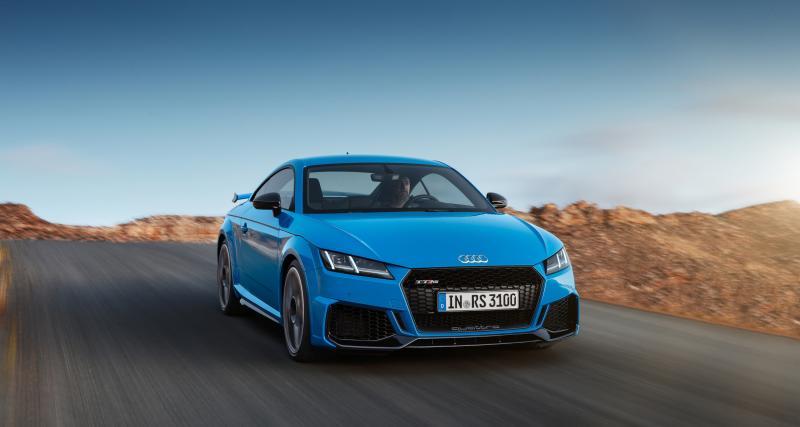 Audi TT RS restylée : le facelift du coupé sportif en quatre points