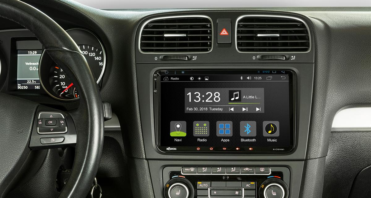 """Radical commercialise un autoradio Android """"plug and play"""" pour les VW Golf 6"""