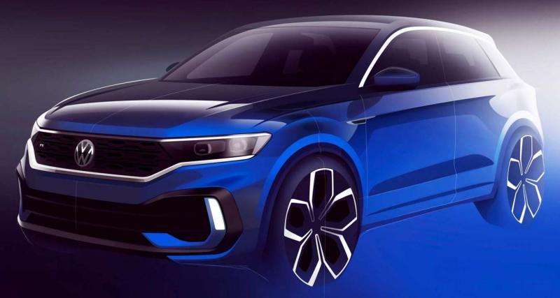Volkswagen T-Roc R 2019 : un premier croquis dévoilé !