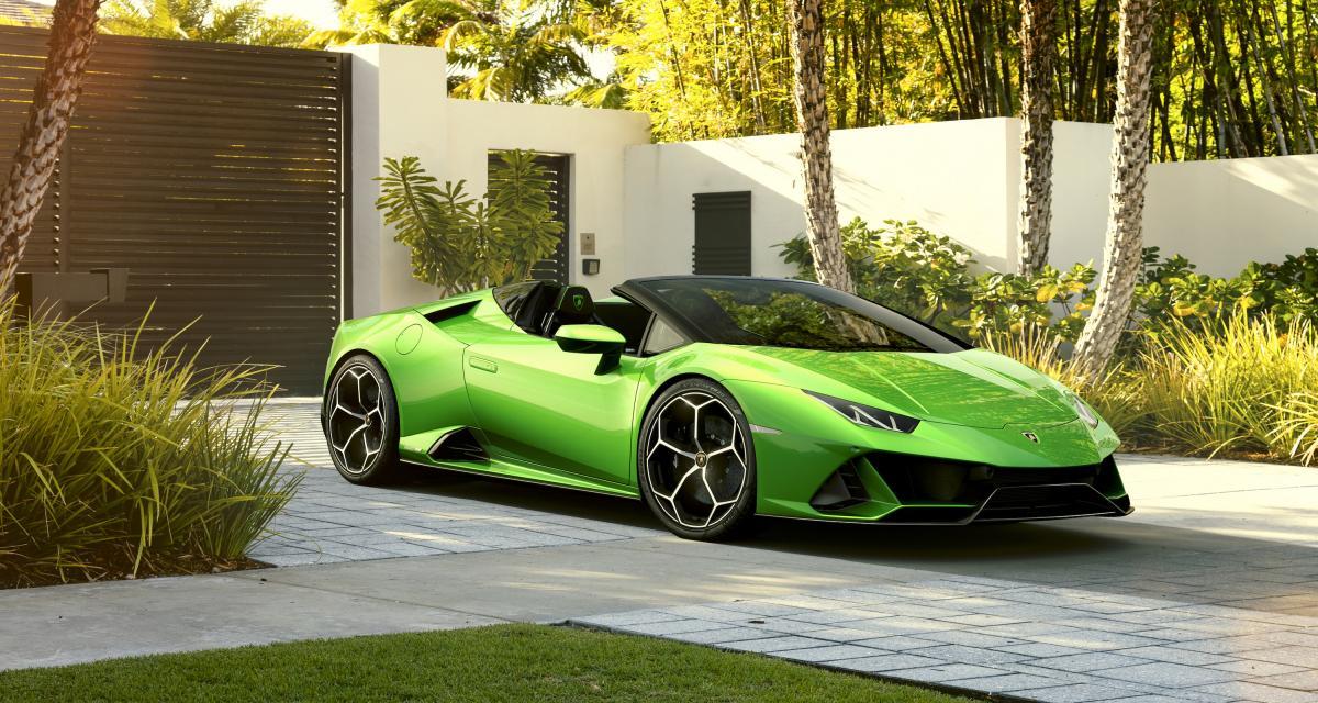 Lamborghini Huracan Evo Spyder : toutes les photos de la version cabriolet