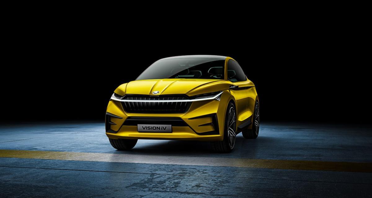 Skoda Vision iV: toutes les infos du SUV Coupé 100 % électrique présenté à Genève