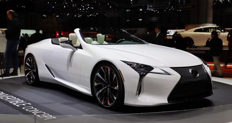 Lexus LC Cabriolet : nos photos du concept au Salon de Genève 2019