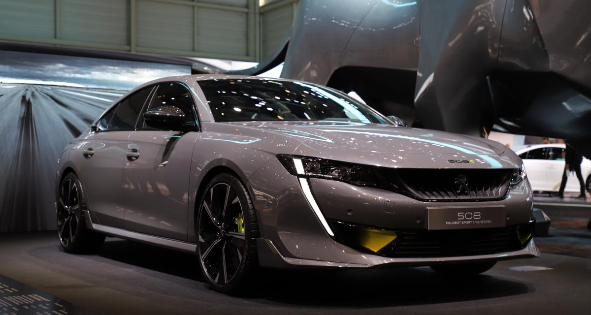 Peugeot 508 Sport Engineered: nos photos de la berline hybride rechargeable au Salon de Genève 2019