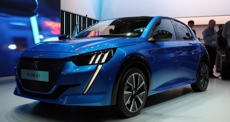 Peugeot e-208 : nos photos de la citadine 100% électrique au Salon de Genève 2019