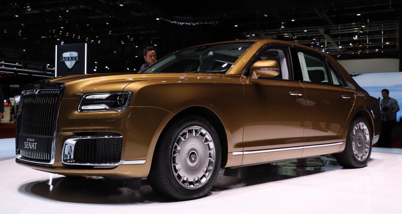 Aurus Senat: la limousine blindée de Poutine à Genève