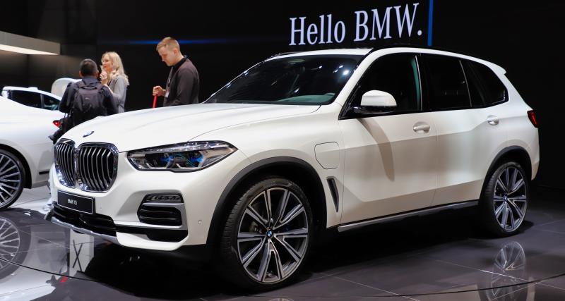 BMW X5 xDrive45e : toutes nos photos de la berline hybride rechargeable au Salon de Genève 2019