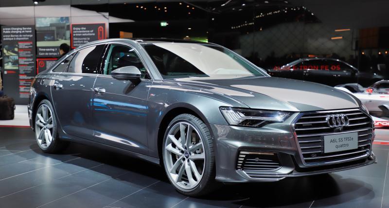 Audi A6 PHEV : nos photos de l'hybride rechargeable au salon de Genève 2019