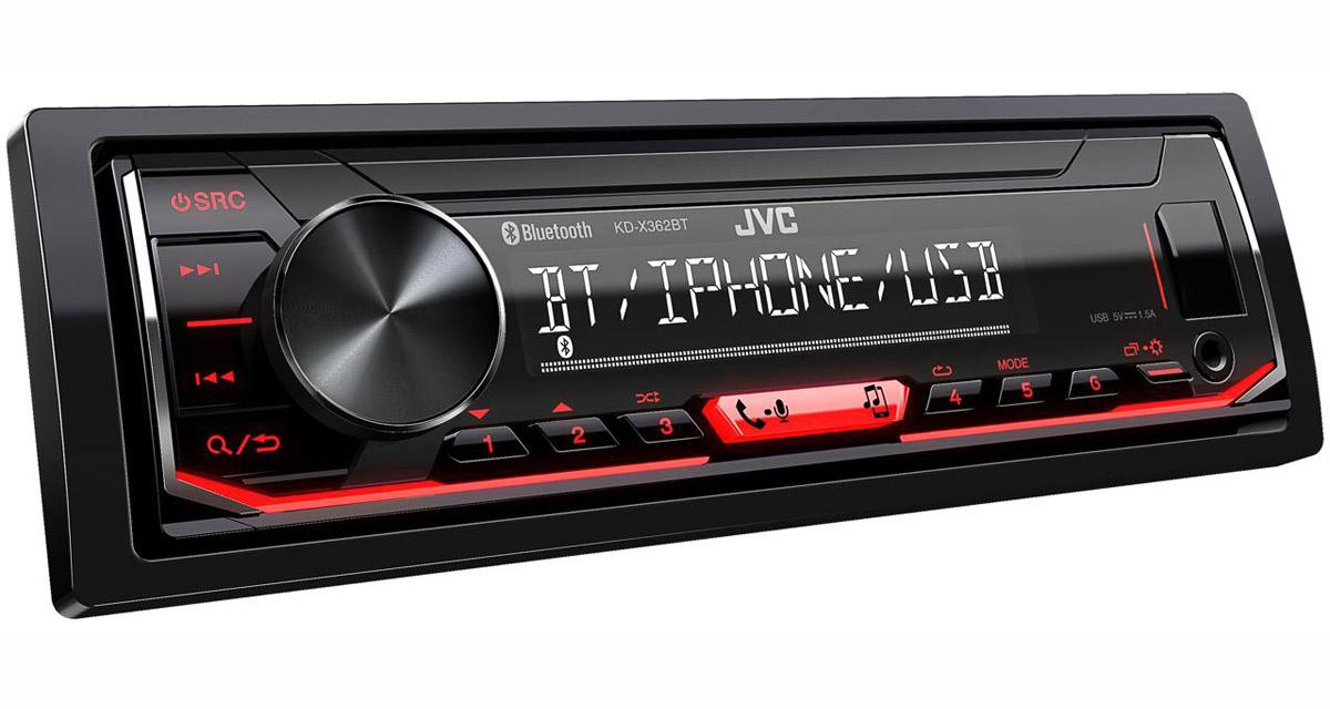JVC KD-X362BT : un autoradio pouvant gérer 5 périphériques Bluetooth pour la musique