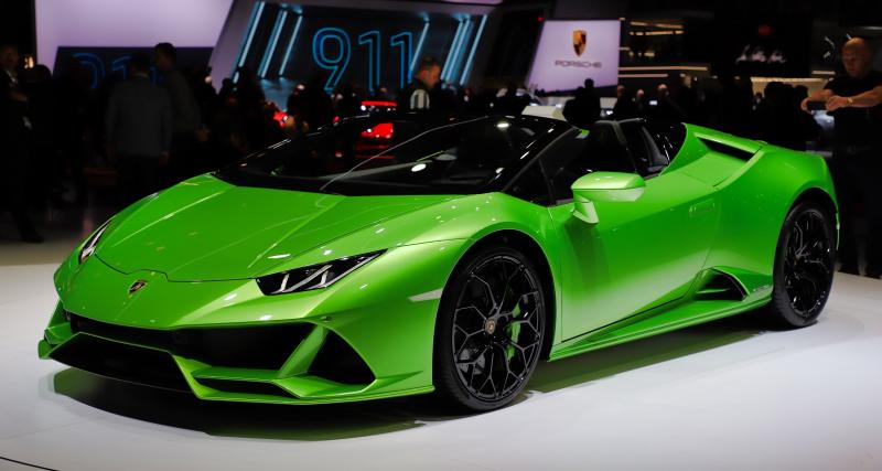 Salon de Genève - Lamborghini Huracan Evo Spyder : nos photos de la berlinette