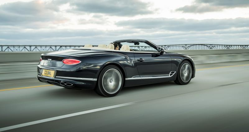 Bentley Continental GT Cabriolet : les photos officielles de la version V8