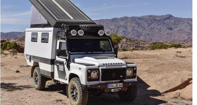 Le Land Rover Defender en mode camping-car